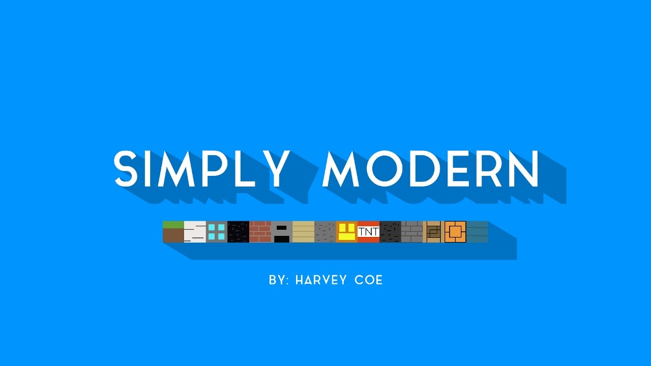 Simply Modern Resource Pack
