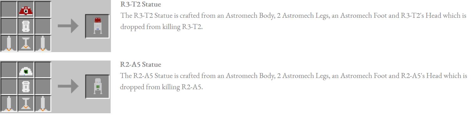Astromech Droids Mod Crafting Recipes 11