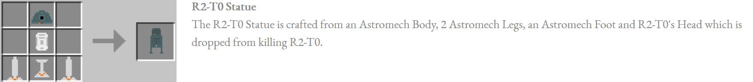 Astromech Droids Mod Crafting Recipes 13