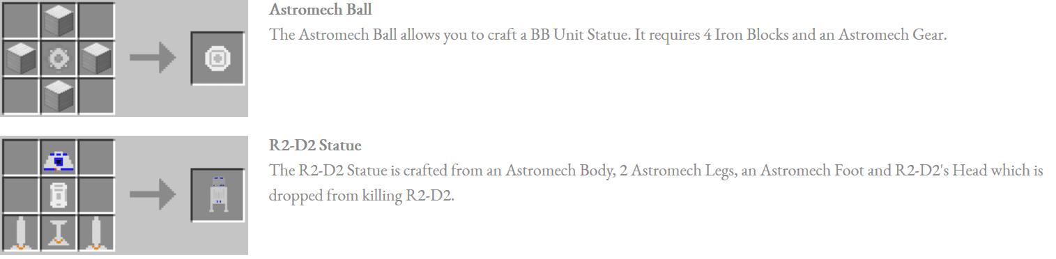 Astromech Droids Mod Crafting Recipes 3