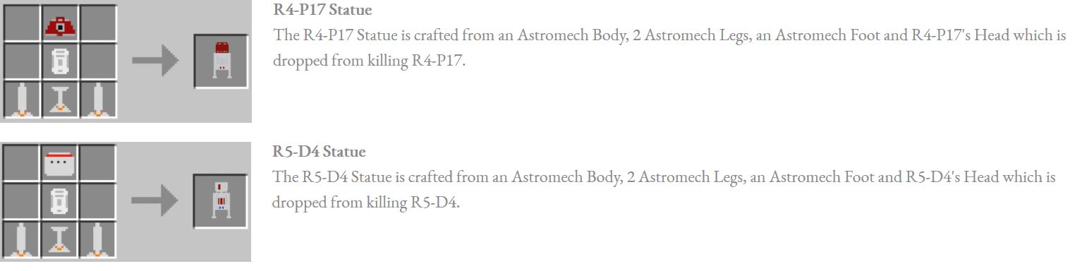 Astromech Droids Mod Crafting Recipes 4