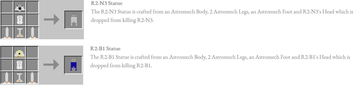 Astromech Droids Mod Crafting Recipes 6