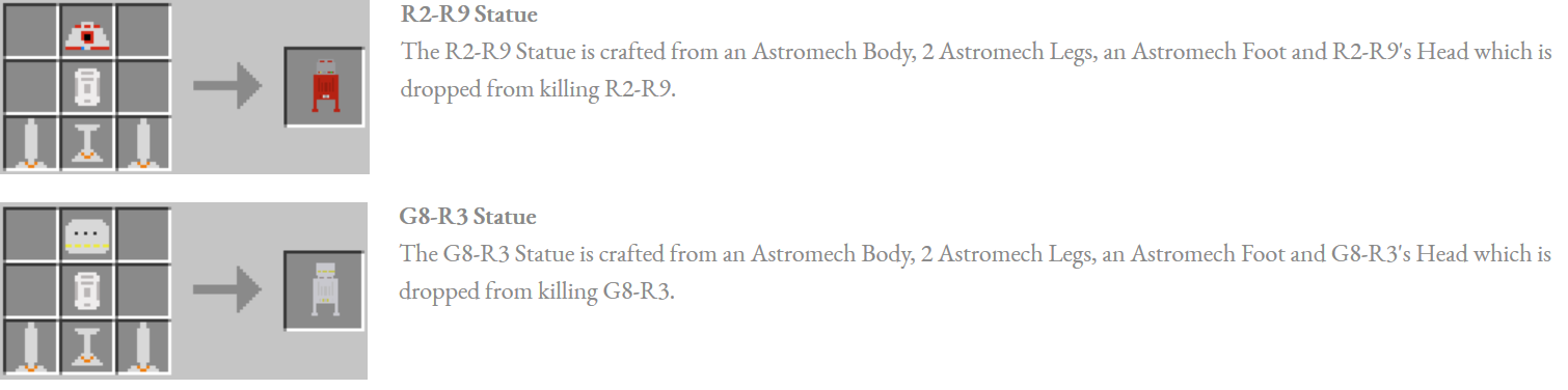 Astromech Droids Mod Crafting Recipes 7