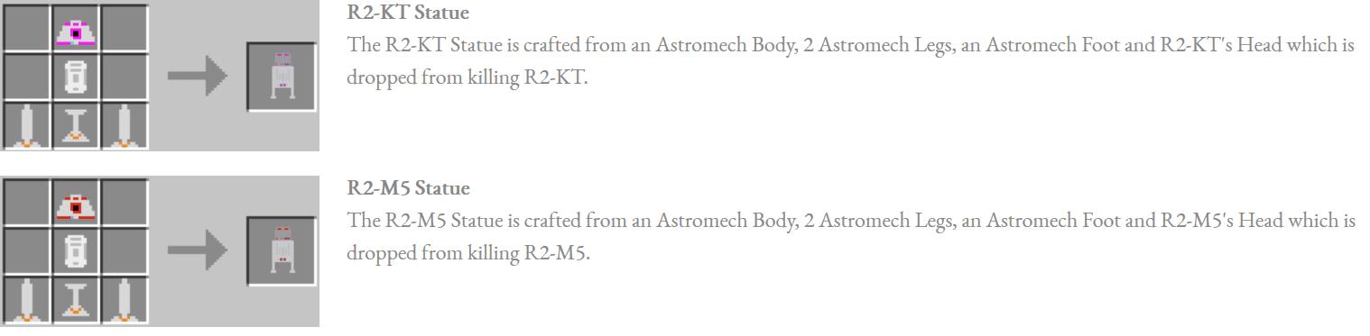 Astromech Droids Mod Crafting Recipes 8
