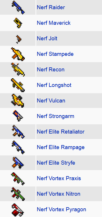 Flan's Nerf Pack Mod Features 1