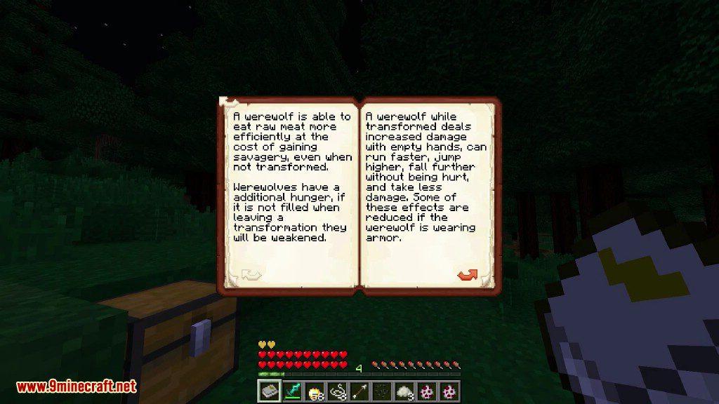 Howling Moon Mod 1 12 2/1 11 2 (Become a Werewolf) - 9Minecraft Net