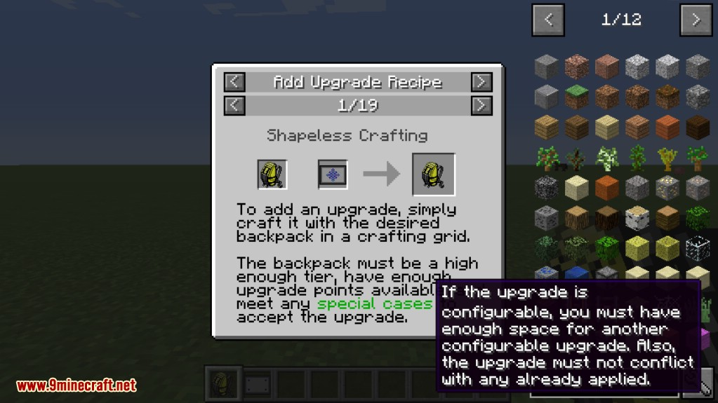 Crafting Buttons In Minecraft