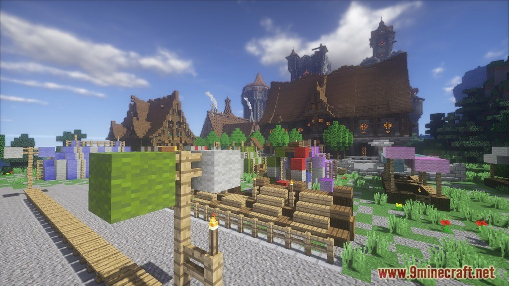 minecraft castle and village map download