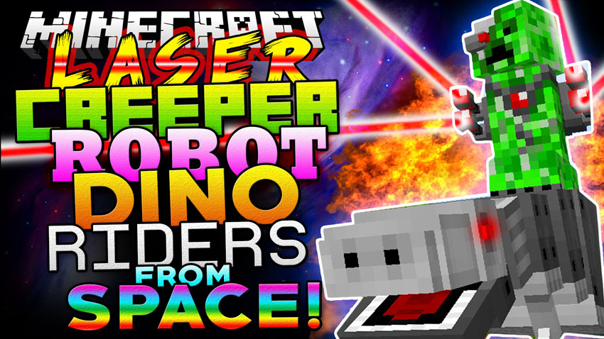 Laser Creeper Robot Dino Riders Mod
