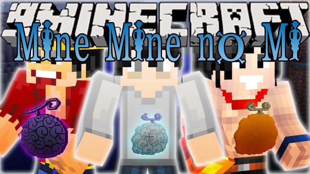 Mine Mine No Mi Mod One Piece Devil Fruits MinecraftNet - Skins para minecraft pe one piece