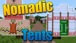 Nomadic Tents Mod for Minecraft Logo