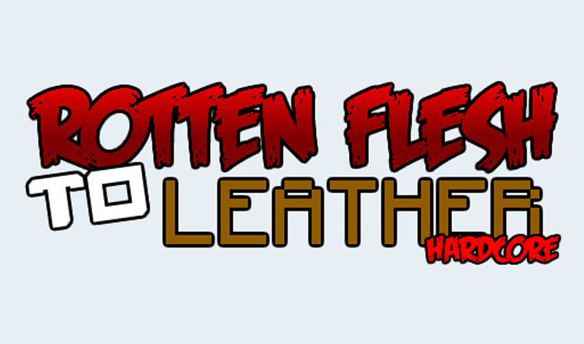 Rotten Flesh to Leather Hardcore Mod