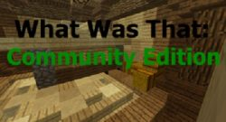 What Was That Community Edition Map logo