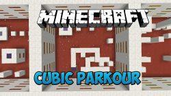 Cubic Parkour Map for Minecraft Logo
