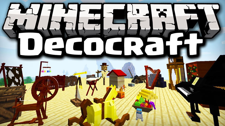 DecoCraft Mod 1.10.2/1.7.10 (Decorate Your World)