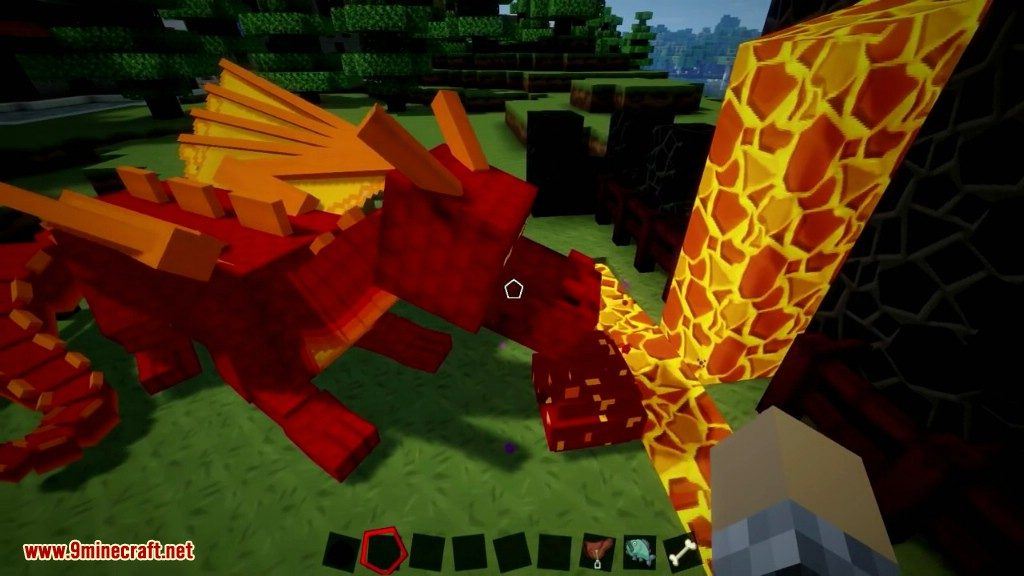 how to ride a dragon in minecraft