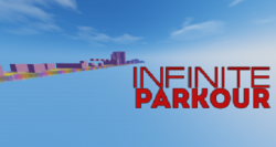 Infinite Parkour Map for Minecraft Logo