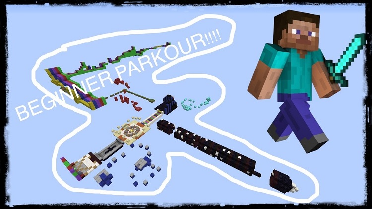 Parkour Beginners Map for Minecraft Logo