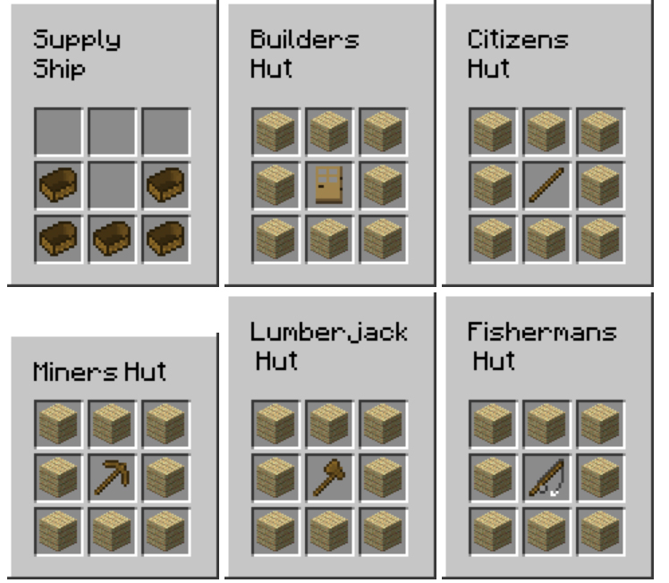 MineColonies Mod Crafting Recipes 1