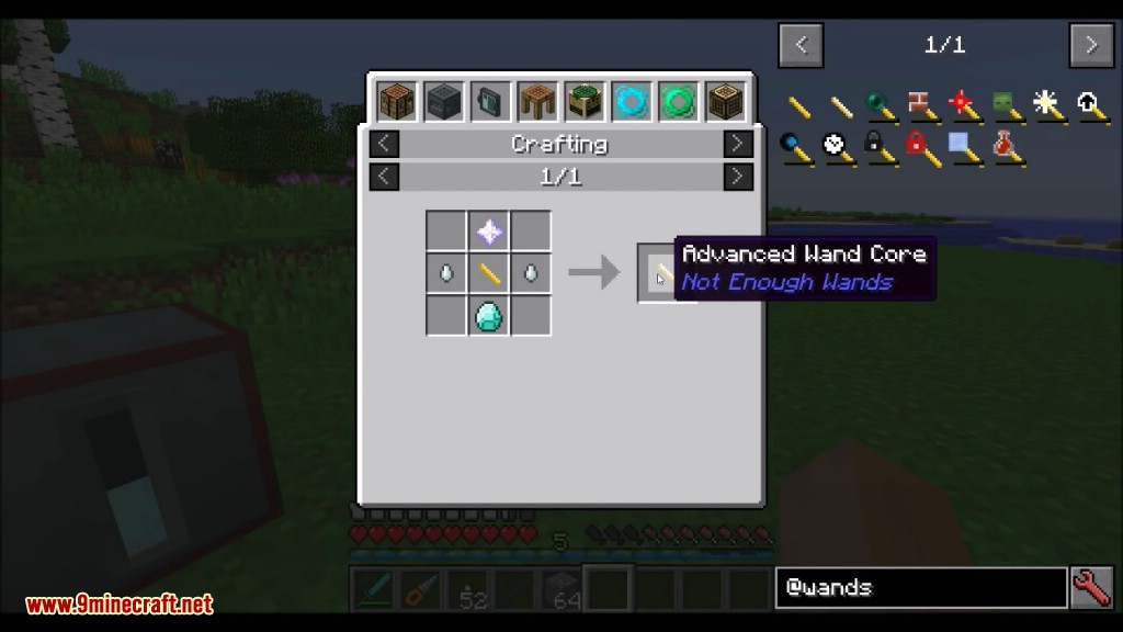 Not Enough Wands Mod Crafting Recipes 2