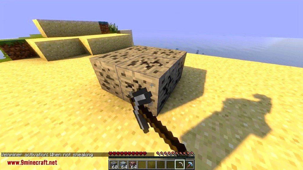 minecraft how to vein mine