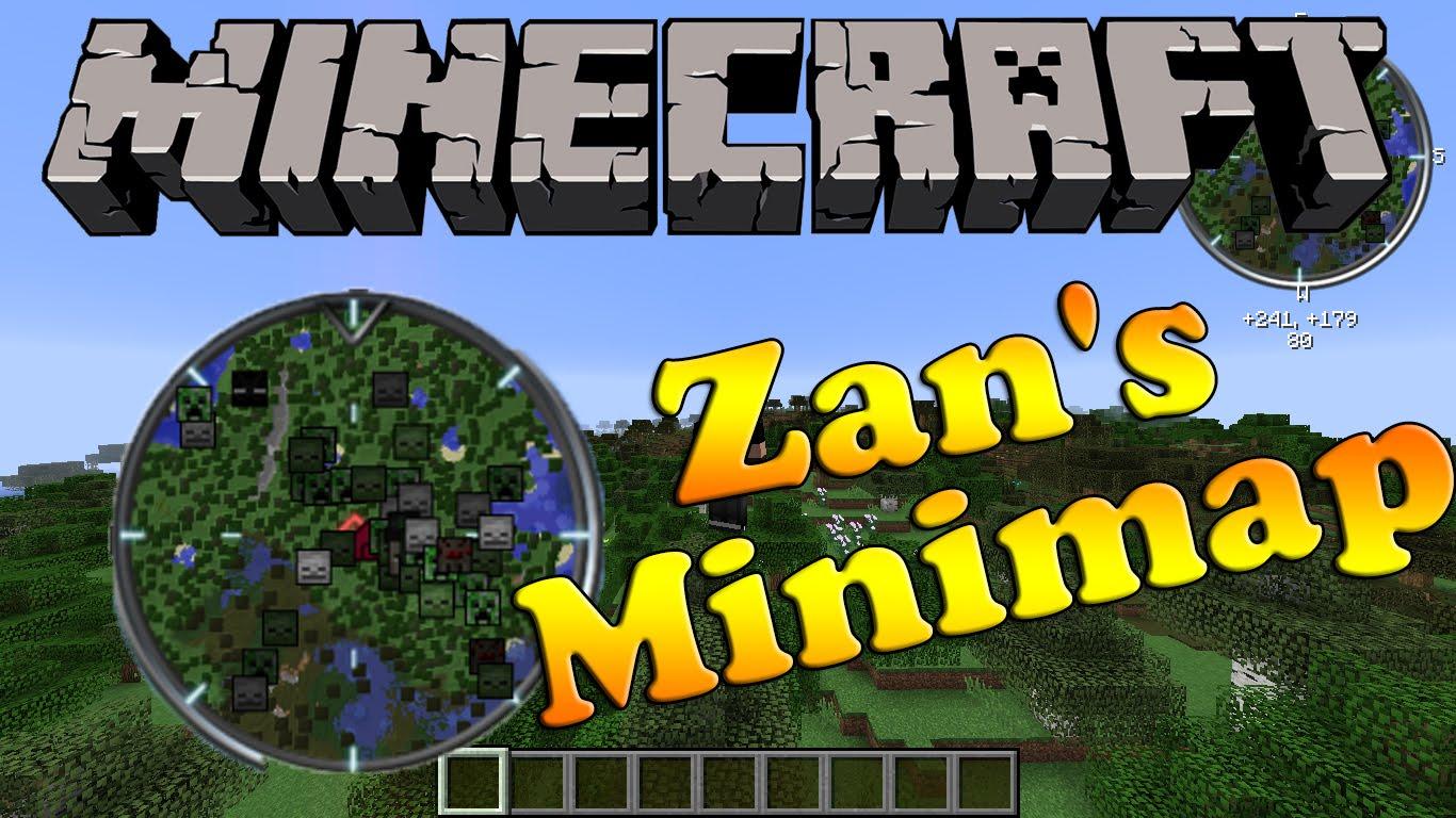 Мод Zan's Minimap для Майнкрафт 1.7.10