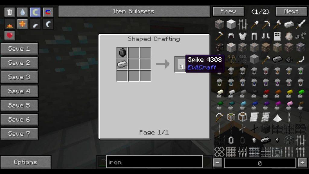 EvilCraft Mod Crafting Recipes 2