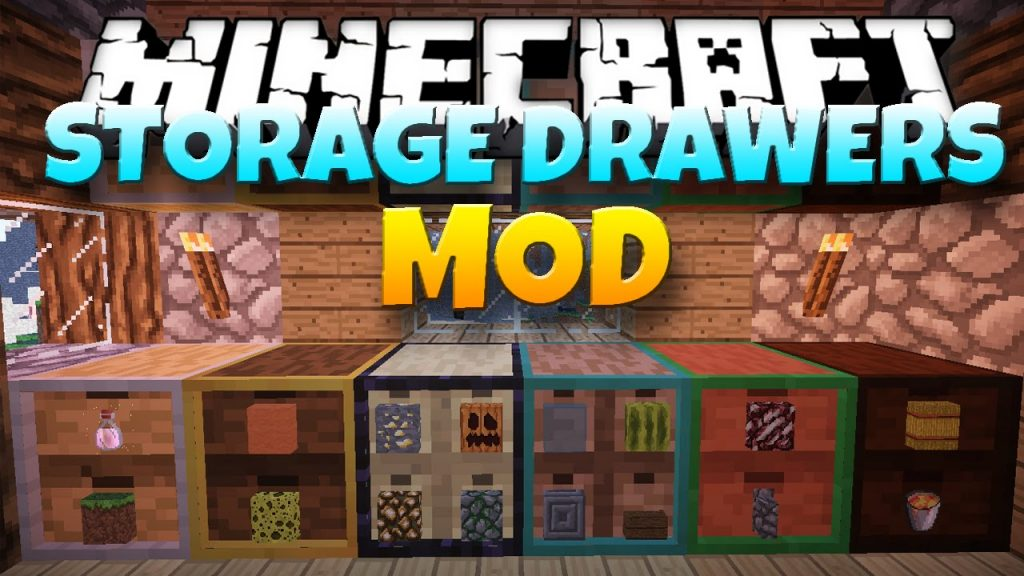 Storage Drawers Mod 1 12 2/1 11 2 (Store Hundreds of Items