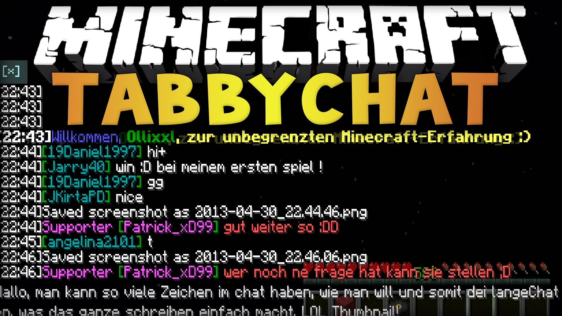 TabbyChat 2 Mod 1.12.1/1.11.2 (Tabs to Chat)