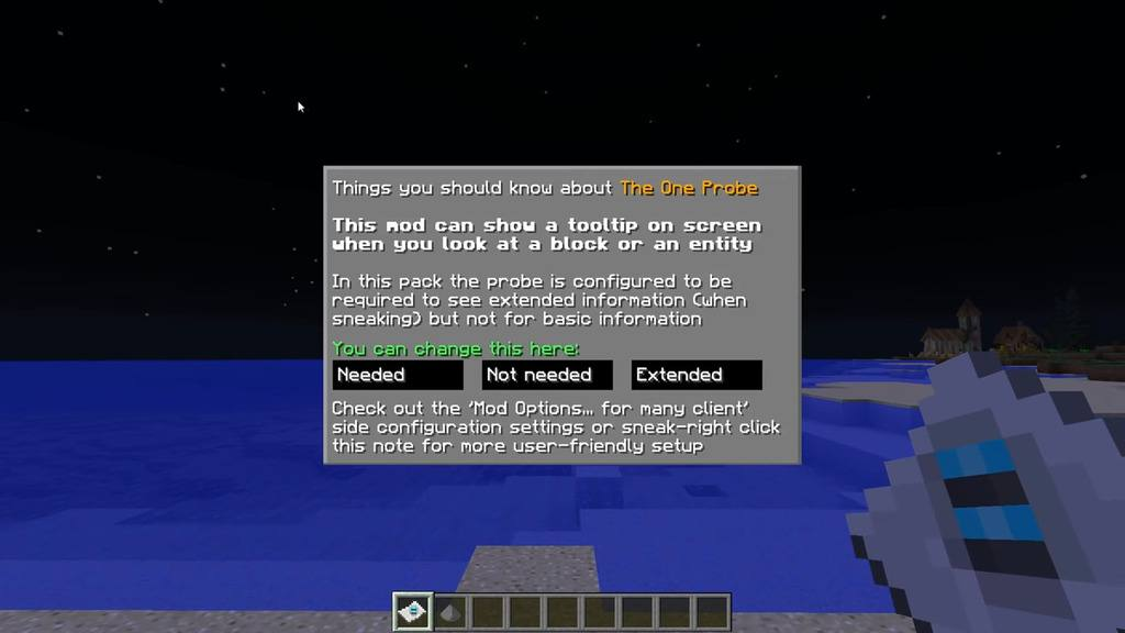 The One Probe Mod for Minecraft 20
