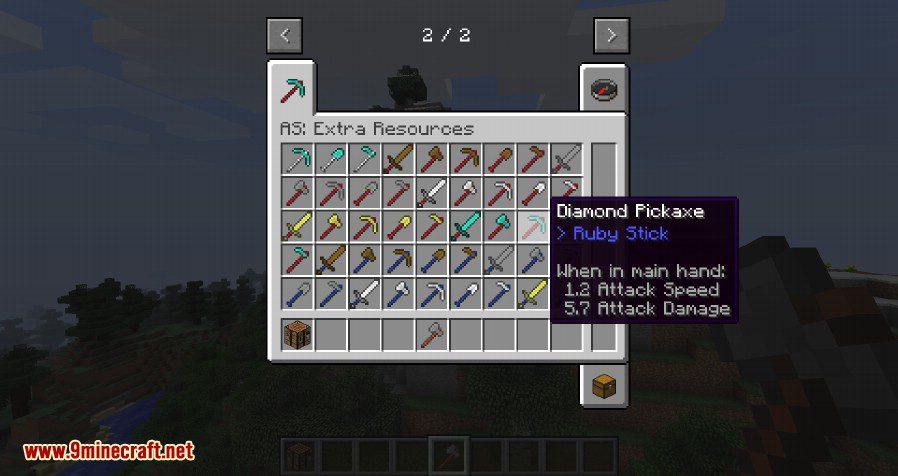 Advanced Sticks Extra Resources Mod 2