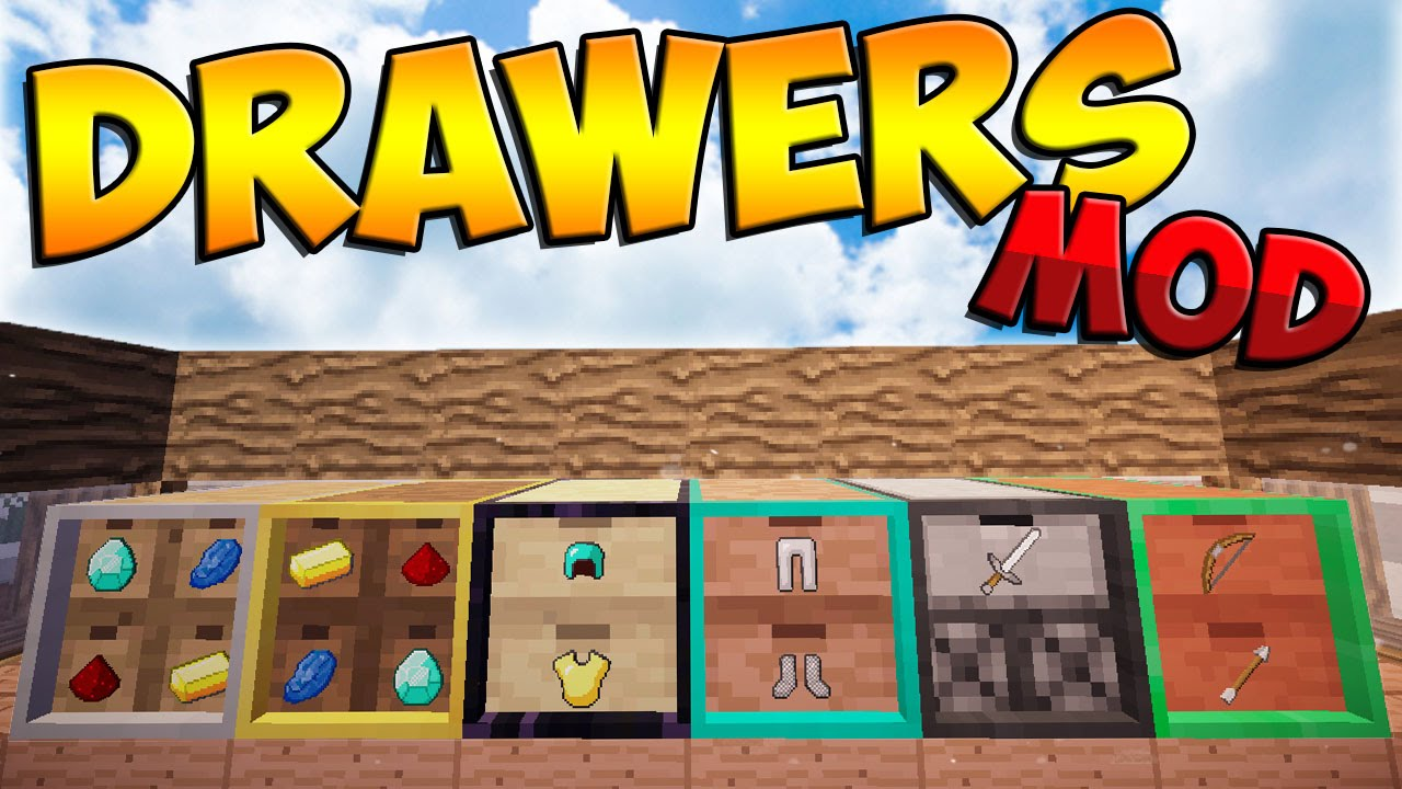 Drawers & Bits Mod for minecraft logo
