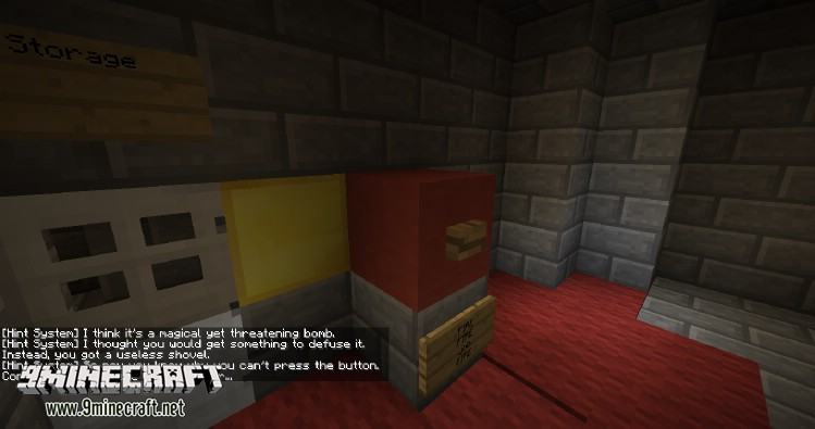 Don't Press The Button Map for Minecraft 2