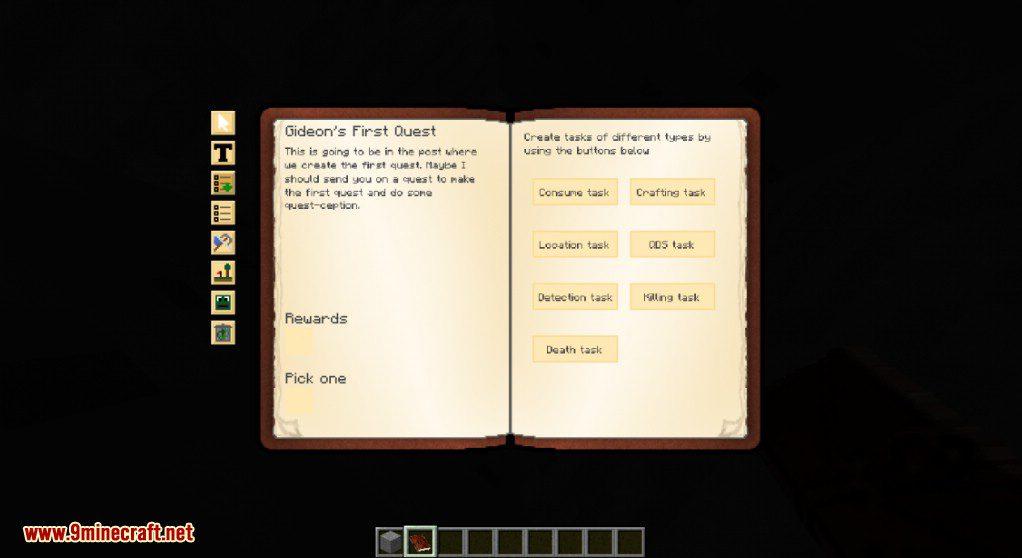 Скачать мод quest book