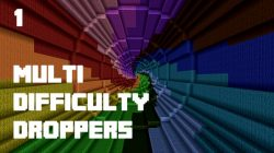 Multi Difficulty Droppers Map for Minecraft Logo