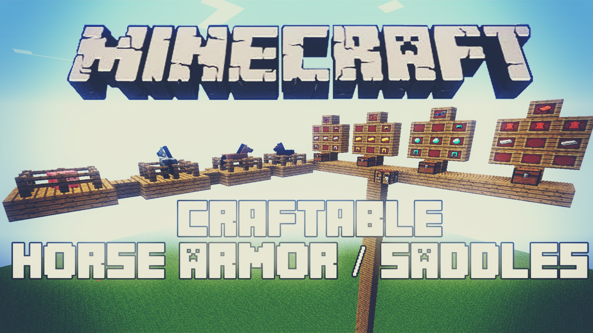 Craftable Horse Armour and Saddle Mod