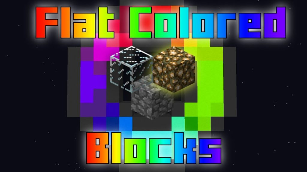 Flat Colored Blocks Mod