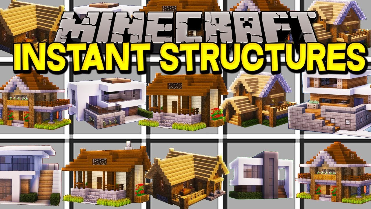 Instant Structures Mod 1111.111111.1111/1111.11111.11 (Build a Minecraft World in