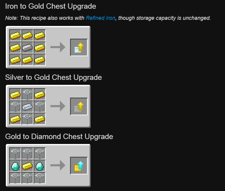 Iron Chests Mod Crafting Recipes 6