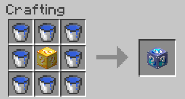Lucky Block Water Mod Crafting Recipes