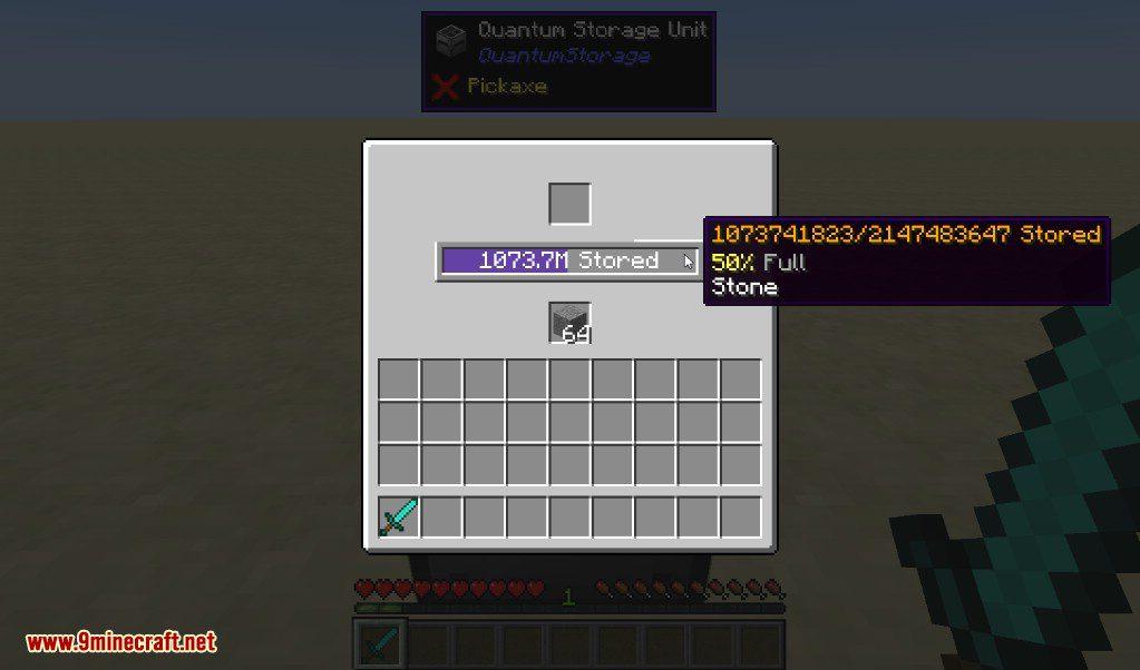 Quantum Storage Mod Usage 1