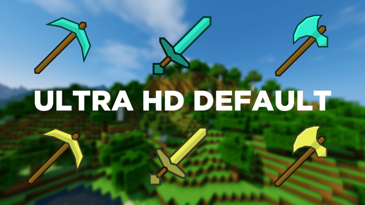 Ultra HD Default Resource Pack for Minecraft Logo