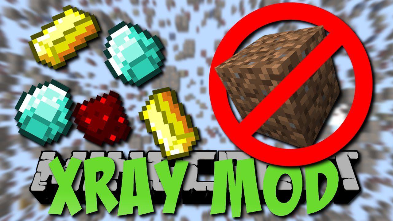 XRay Mod 100.1006.100/100.100100.10 (Fullbright, Cave Finder, Fly) - 10Minecraft.Net