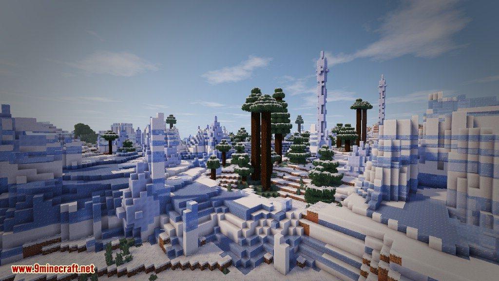 Biome Bundle Mod Snowy Mesa