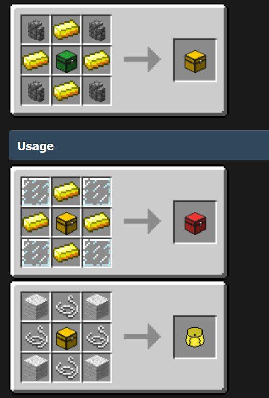Compact Storage Mod Crafting Recipes Quadruple Chest