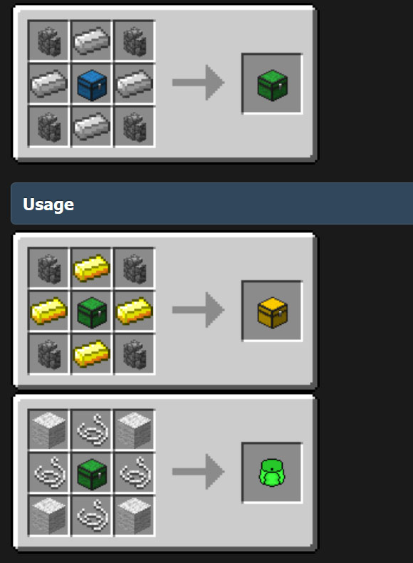 Compact Storage Mod Crafting Recipes Triple Chest