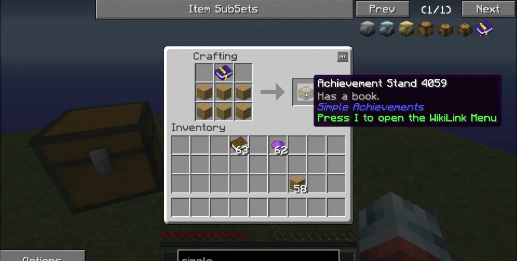 Simple Achievements Mod Crafting Recipes 4