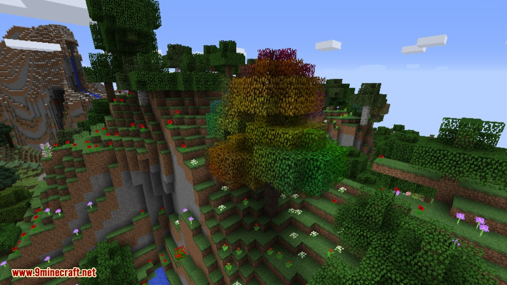 Rainbow Oak Trees Mod Screenshots 1