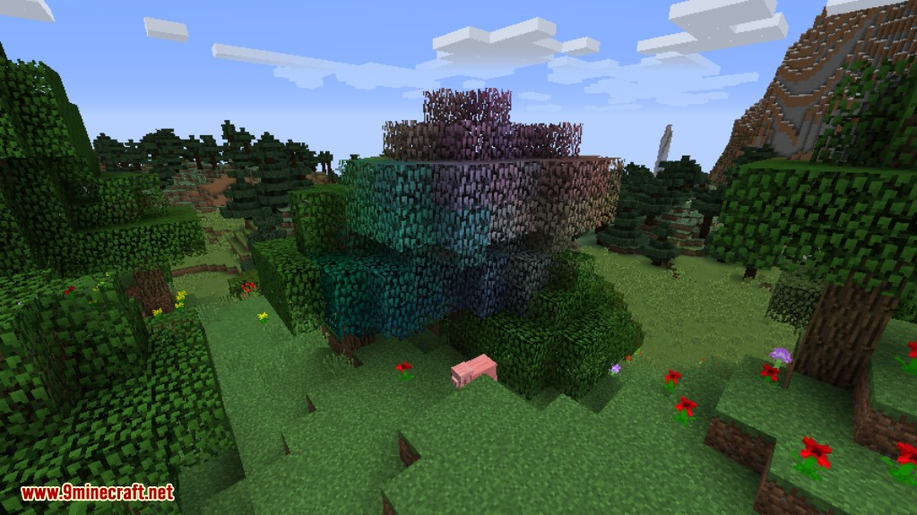 Rainbow Oak Trees Mod Screenshots 2