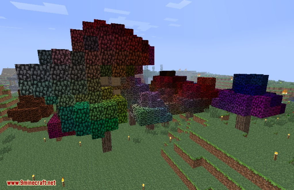 Rainbow Oak Trees Mod Screenshots 3